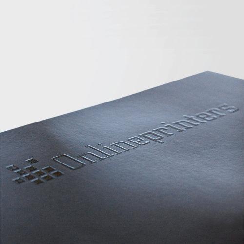 Den delvise påføring af lak giver dine tryksager et unikt udseende.