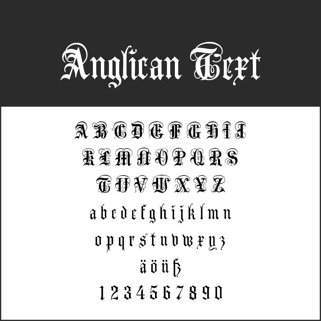 Gotisk skrift Anglican Text