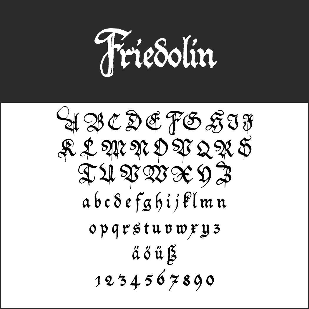 Gotisk skrift Friedolin