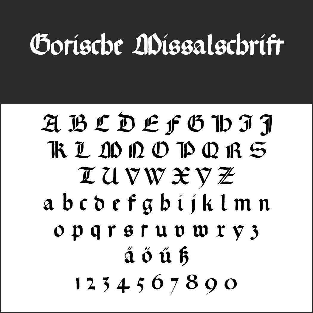 Gotisk skrift Gotische Missalschrift