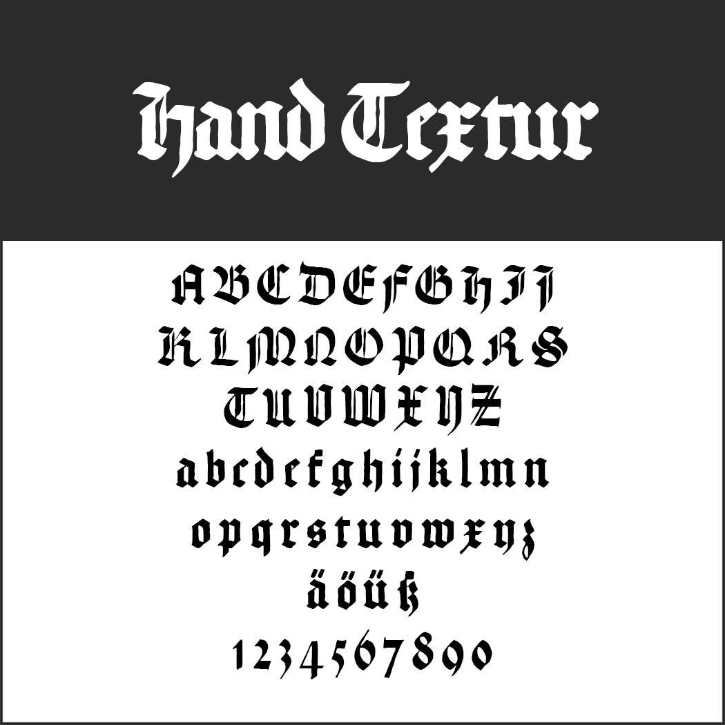Gotisk skrift Hand Textur