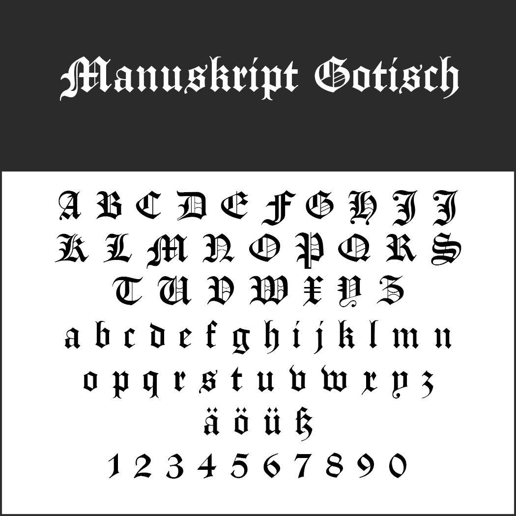 Gotisk skrift Manuskript Gotisch