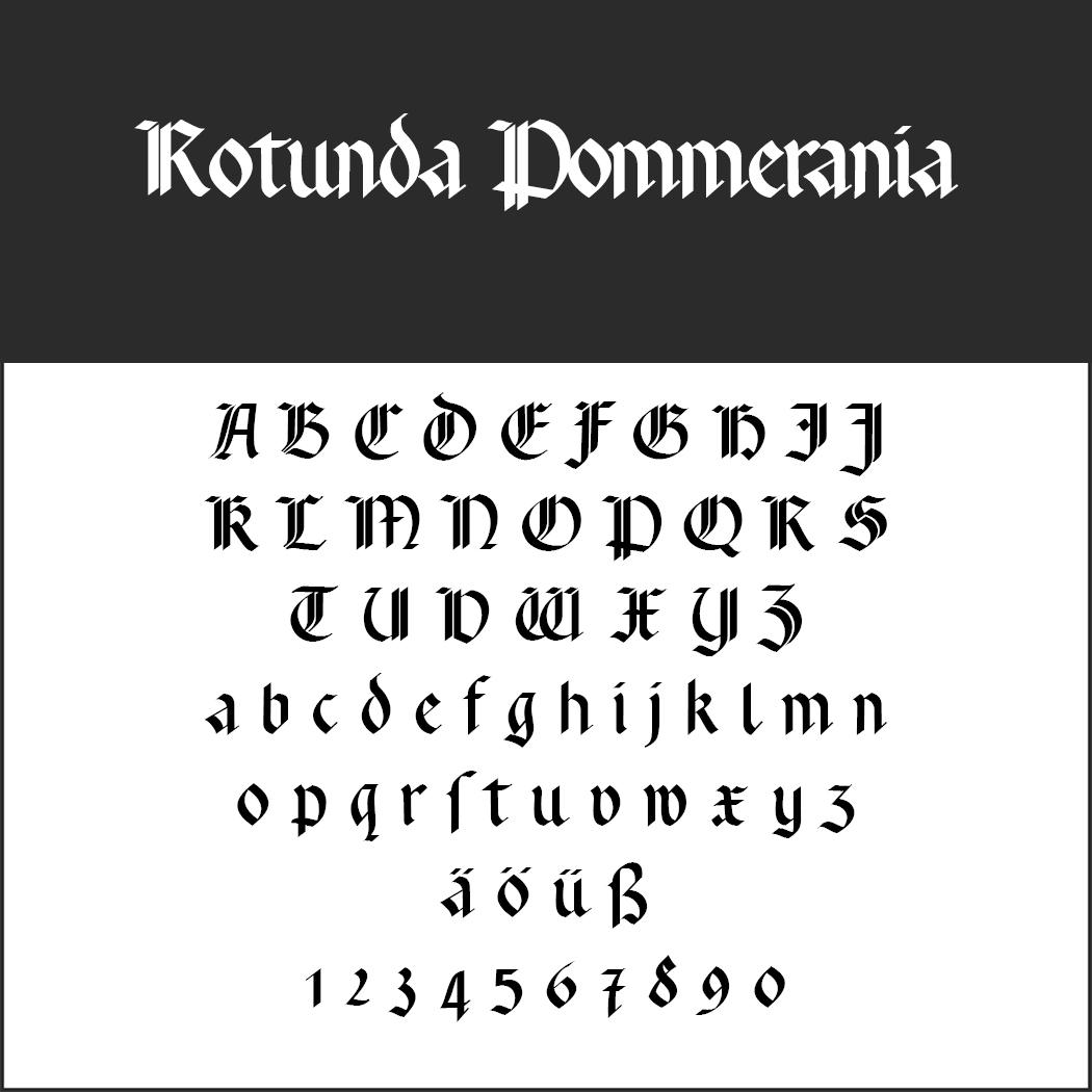 Gotisk skrift Rotunda Pommerania