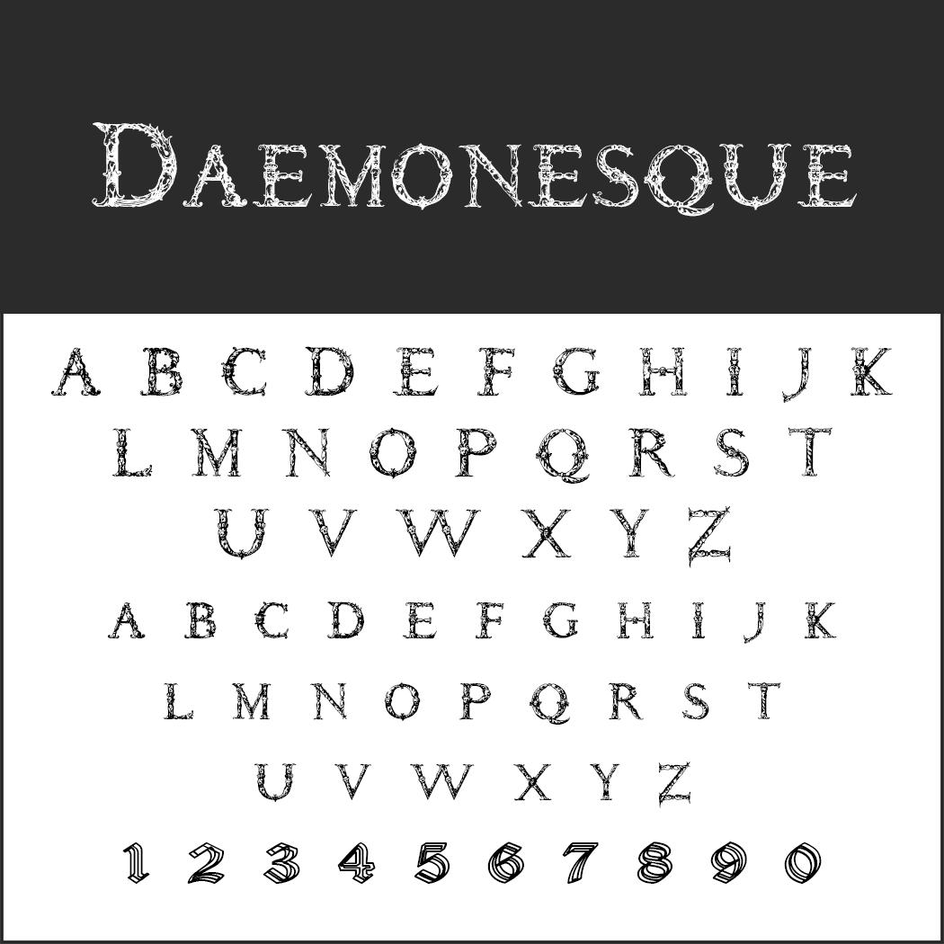 halloween font: Daemonesque