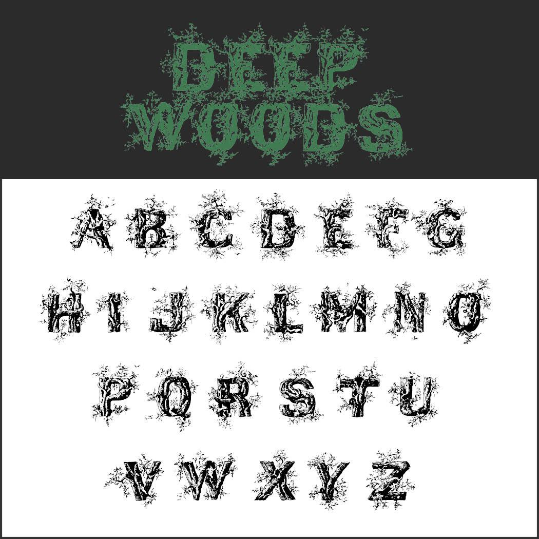 halloween font: Deep Woods Initials