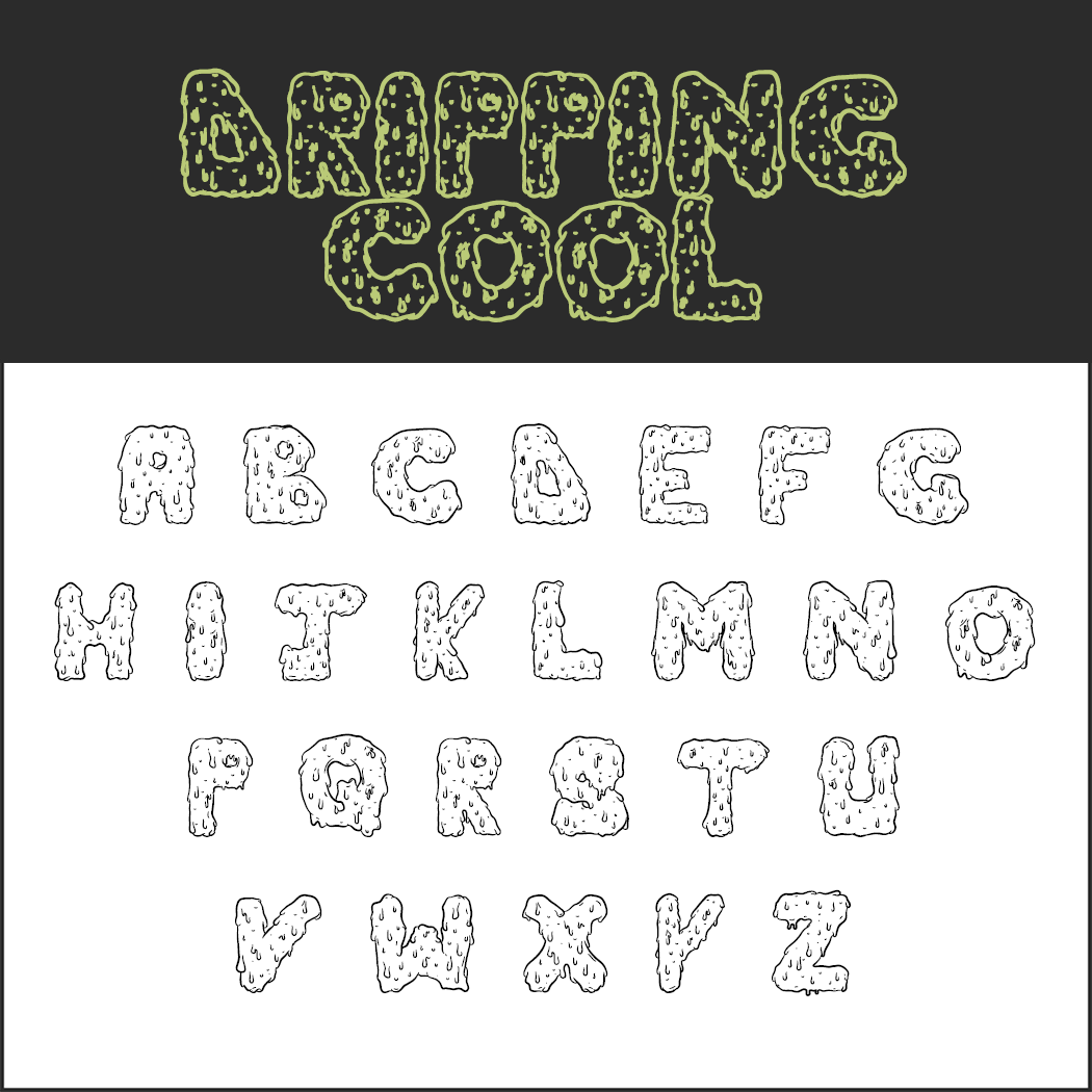 halloween font: Dripping Cool