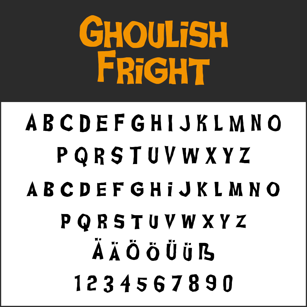 halloween font: Ghoulish Fright