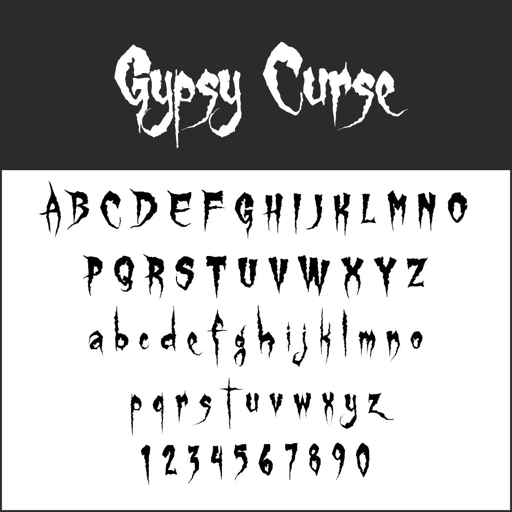 halloween font: Gypsy Curse