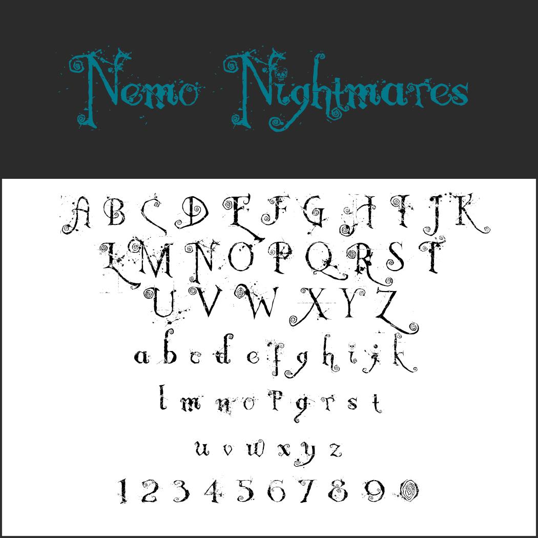 halloween font: Nemo Nightmares