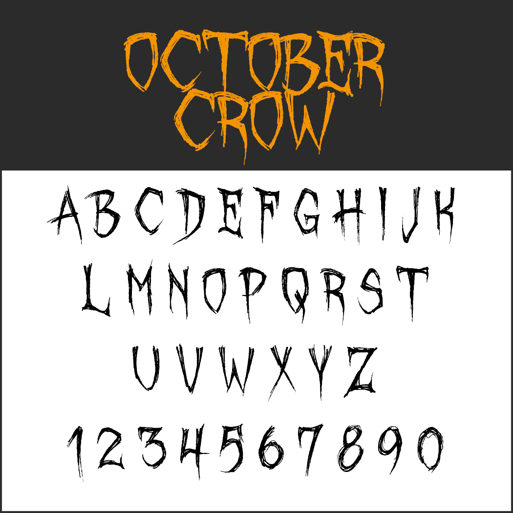 hallowee font: October Crow
