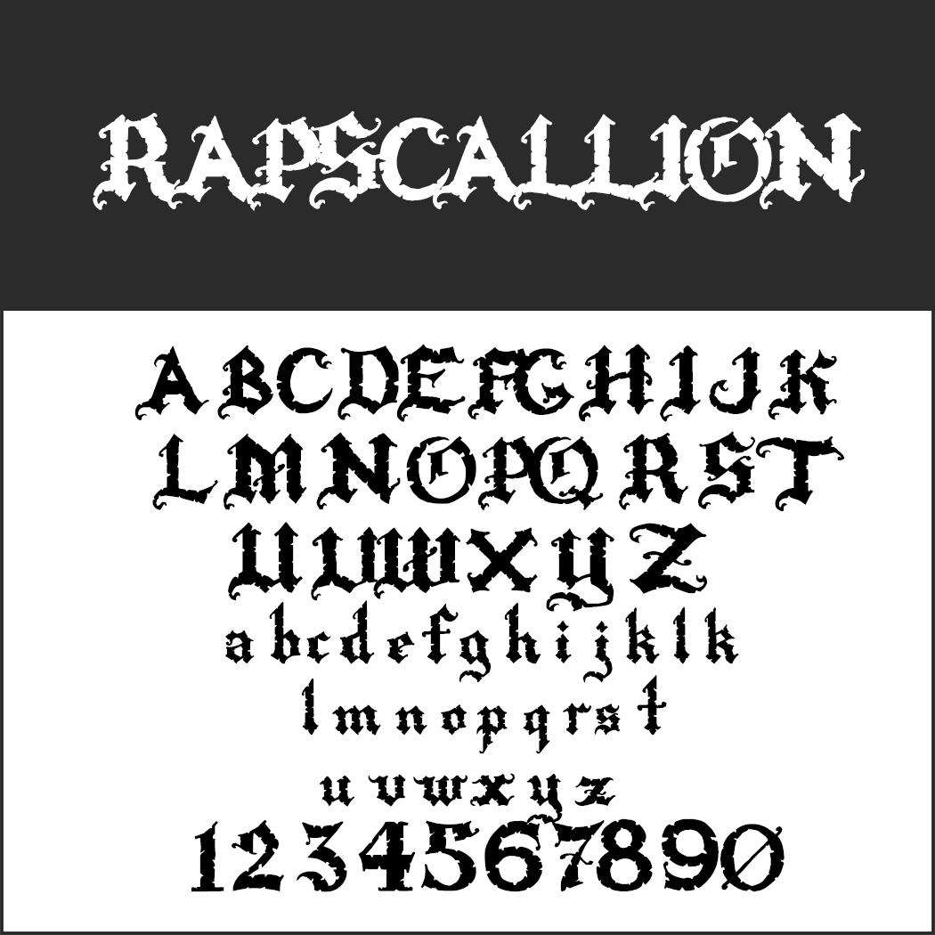halloween font: Rapscallion