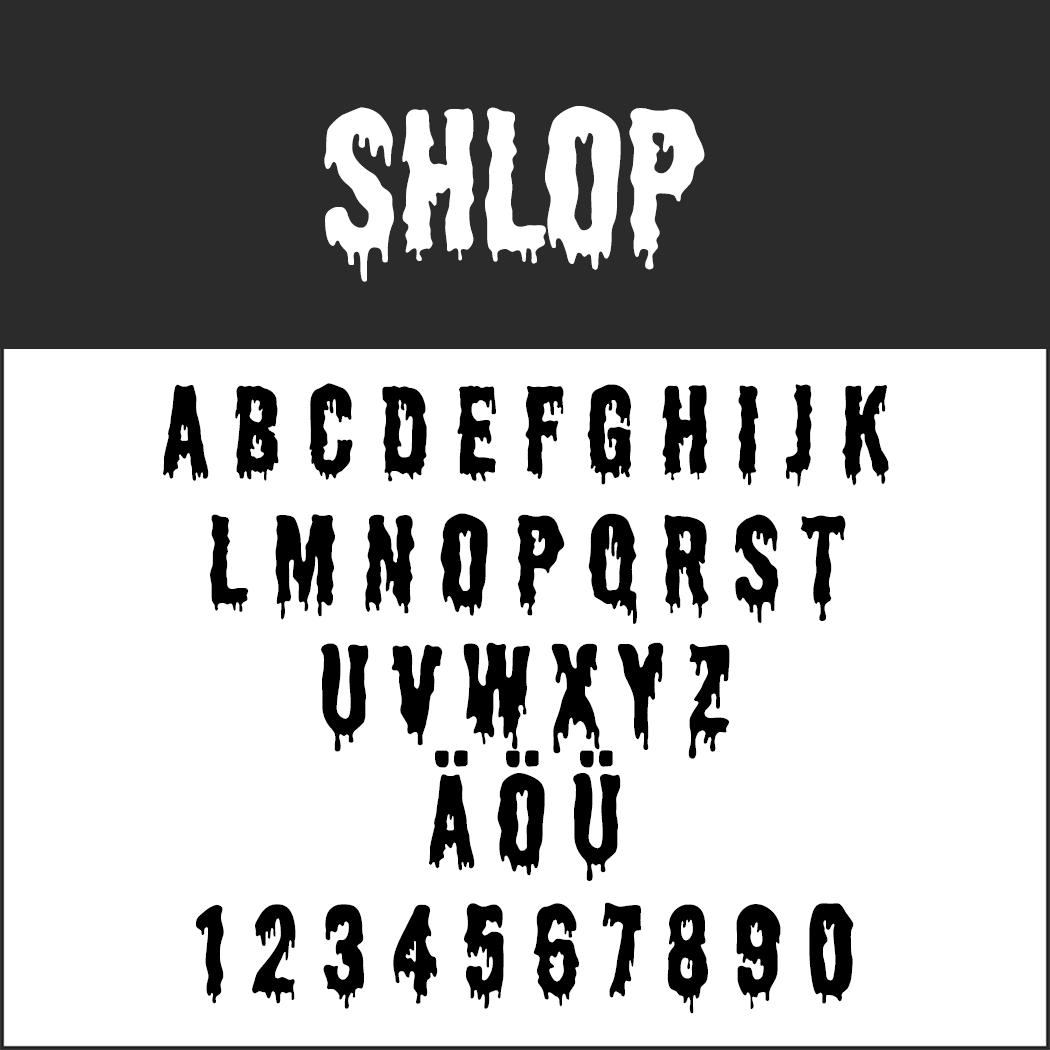 halloween font: Shlop