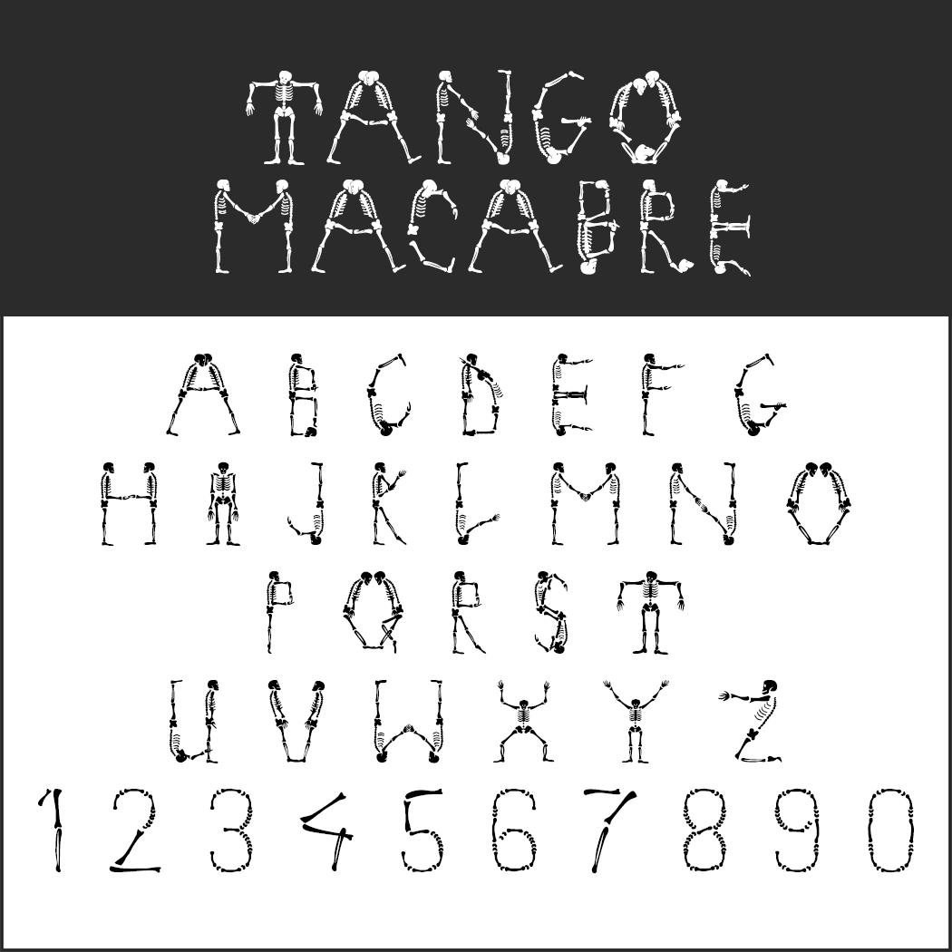 halloween font: Tango Macabre