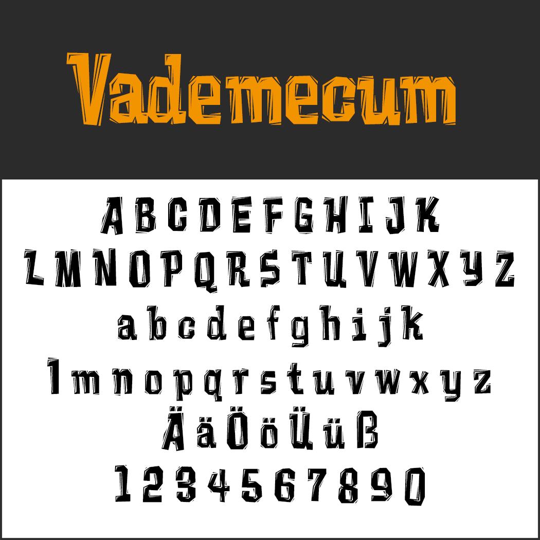 halloween font: Vademecum
