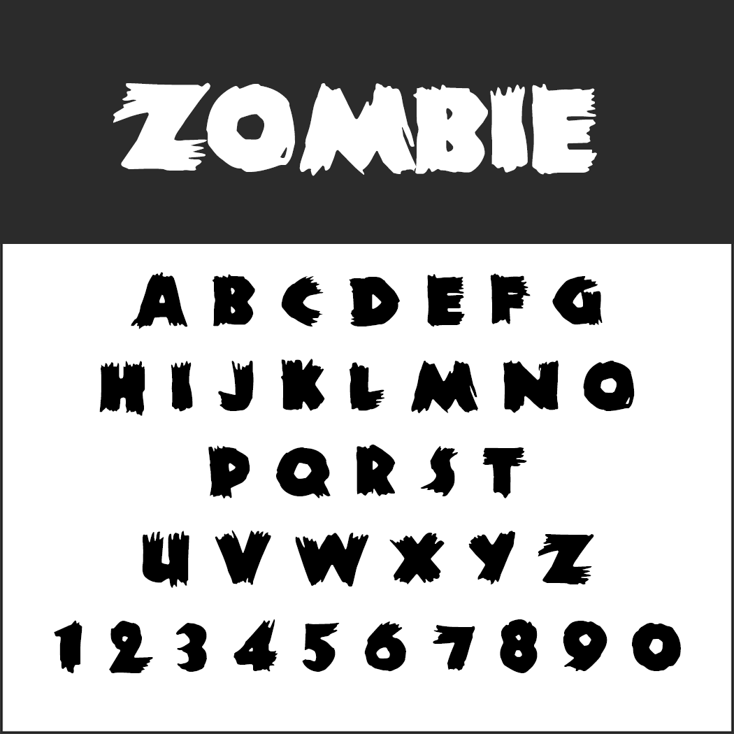 halloween font: Zombie